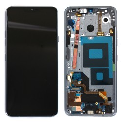 Bloc Ecran avec vitre et LCD prémontés sur châssis pour LG G7 ThinQ Gris Photo 1