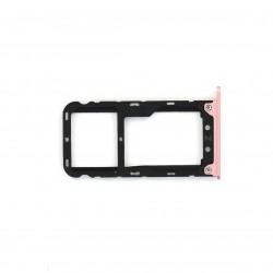 Rack tiroir cartes SIM et SD pour Xiaomi Redmi Note 5 Rose Photo 1