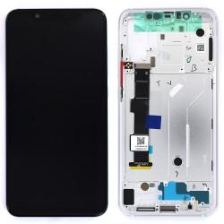 Bloc Ecran Argent COMPLET prémonté sur chassis pour Xiaomi Mi 8 Photo 1