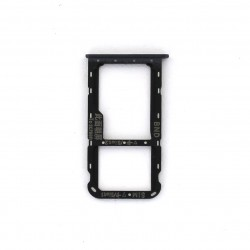 Rack tiroir carte SIM et SD Noir pour Huawei Honor 7X Photo 1