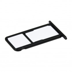 Rack tiroir carte SIM et SD Noir pour Huawei Honor 8 Photo 2
