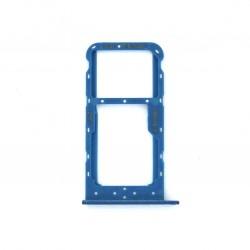 Rack tiroir carte SIM et SD Bleu pour Huawei Honor 9 Lite Photo 1