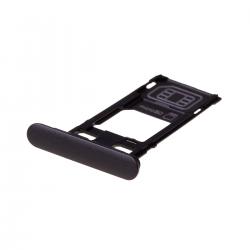 Rack tiroir cartes SIM et SD Noir pour Sony Xperia XZS Photo 1