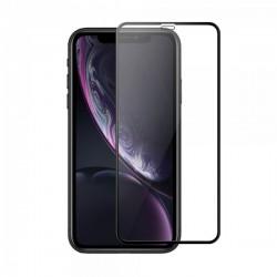 Protecteur en verre trempé noir INCURVE pour iPhone XR Photo 1