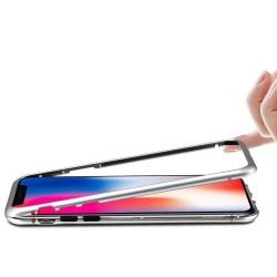 Coque transparente avec bumper magnétique Argent pour iPhone X et XS Photo 3