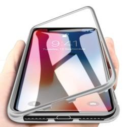 Coque transparente avec bumper magnétique Argent pour iPhone X et XS Photo 2