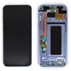 Bloc Ecran Amoled et vitre prémontés sur châssis pour Galaxy S8 Plus Bleu Océan Photo 1