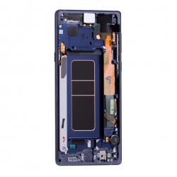 Bloc Ecran Amoled et vitre prémontés pour Samsung Galaxy Note 9 Bleu Cobalt Photo 2