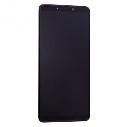 Bloc Ecran noir avec vitre + Amoled pour Samsung Galaxy A9 2018 Photo face