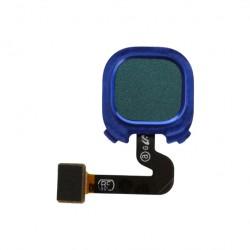 Nappe avec lecteur d'empreintes digitales pour Samsung A9 2018 Bleu Photo 1