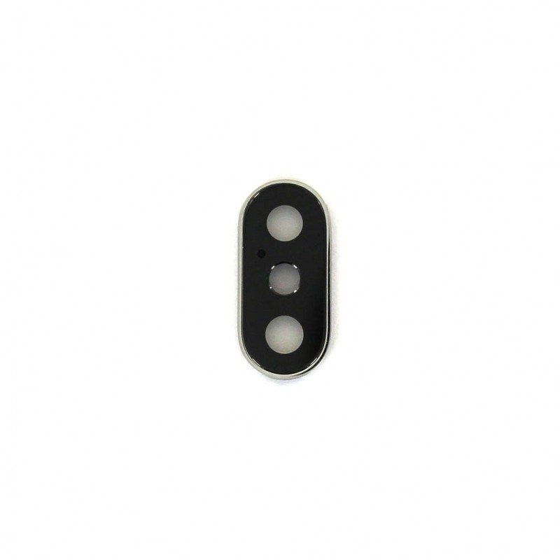 Lentille de protection avec bague métallique Or pour iPhone XS Max photo 1