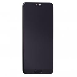 Bloc Ecran Noir COMPLET prémonté sur chassis pour Huawei P20 Photo 1