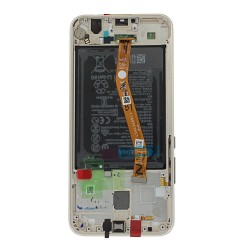 Bloc Ecran Or complet prémonté + batterie sur chassis pour Huawei Mate 20 Lite_photo 2