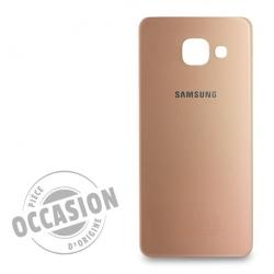 Vitre arrière Rose d'occasion pour Samsung Galaxy A3 2016 Photo 1