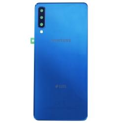 Vitre Arrière bleue pour Samsung Galaxy A7 2018_photo 1