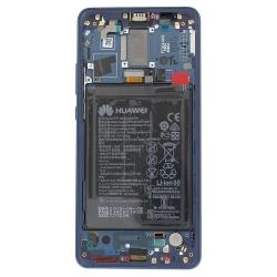 Bloc écran bleu COMPLET pré-monté sur chassis + batterie pour Huawei Mate 10 Pro_photo2