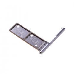 Rack tiroir pour 2 cartes SIM pour Sony Xperia XA2 Ultra Dual Argent