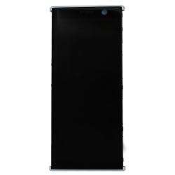 Bloc Ecran Argent avec vitre et LCD sur châssis pour Sony Xperia XA2 Plus_photo1