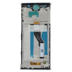 Bloc Ecran Argent avec vitre et LCD sur châssis pour Sony Xperia XA2 Plus_photo2