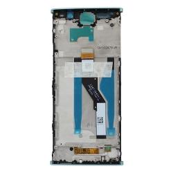 Bloc Ecran Vert avec vitre et LCD sur châssis pour Sony Xperia XA2 Plus_photo2