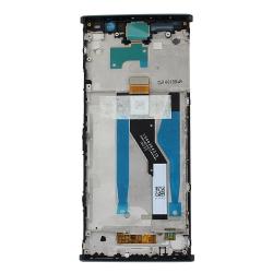 Bloc Ecran Noir avec vitre et LCD sur châssis pour Sony Xperia XA2 Plus_photo2