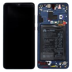 Bloc Ecran Bleu Minuit complet pré-monté + batterie sur châssis pour Huawei Mate 20_photo1