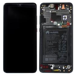 Bloc Ecran Noir complet pré-monté + batterie sur châssis pour Huawei Mate 20_photo1