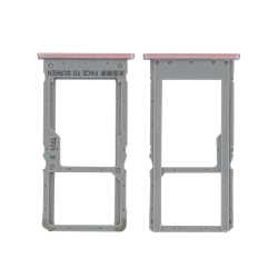 Rack tiroir carte SIM + Micro SD Rose pour Xiaomi Redmi Note 6 Pro_photo1