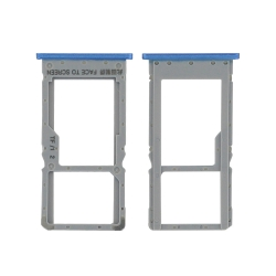 Rack tiroir carte SIM + Micro SD Bleu pour Xiaomi Redmi Note 6 Pro_photo1