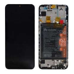Bloc Écran Noir complet pré-monté + batterie sur châssis pour Huawei P Smart 2019_photo1