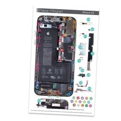 Patron magnétique d'aide au montage pas à pas pour iPhone Xs