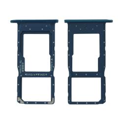 Rack pour cartes SIM et SD bleu pour Huawei P Smart 2019_photo1