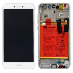 Écran Blanc COMPLET prémonté sur châssis avec batterie pour Huawei P8 Lite 2017_photo1