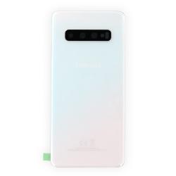 Vitre arrière d'origine pour Samsung Galaxy S10 Blanc Prisme_photo1