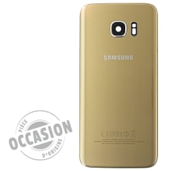 Vitre arrière Or d'occasion pour Samsung Galaxy S7 Edge_photo1