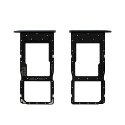 Pièce de remplacement d'origine du tiroir rack SIM et SD pour Honor 10 Lite noir