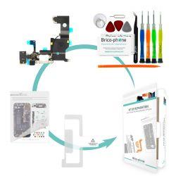 Kit de réparation Brico-phone avec connecteur de charge prise jack et micro  BLANC  iPhone 5