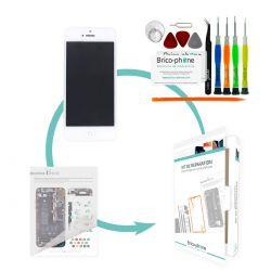 Kit de réparation Brico-phone avec écran BLANC iPhone 5 PREMIUM pré-assemblé