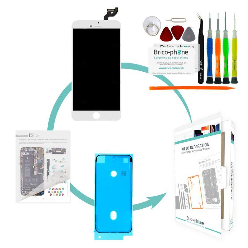 Kit de réparation Brico-phone avec écran BLANC iPhone 6S Plus RAPPORT QUALITE / PRIX Pré-assemblé