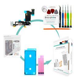 Kit de réparation Brico-phone avec connecteur de charge et prise jack SILVER  iPhone 6S Plus