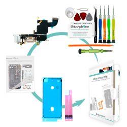 Kit de réparation Brico-phone avec connecteur de charge et prise jack BLANC iPhone 6S