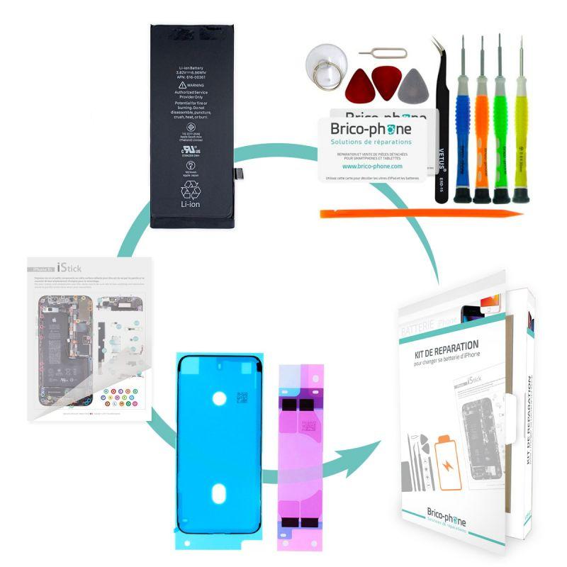 Kit de réparation Brico-phone avec batterie identique à l'origine iPhone 8