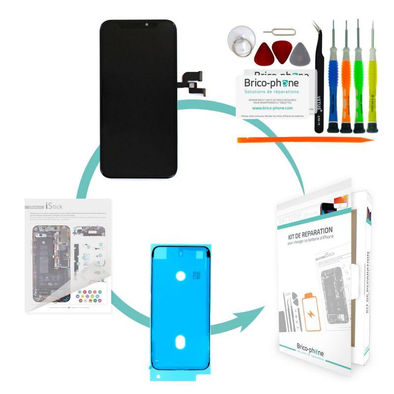 Kit de réparation Brico-phone avec Ecran NOIR iPhone X Rapport Premier prix