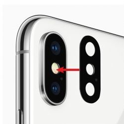 Lentille double caméra arrière pour iPhone X photo 2