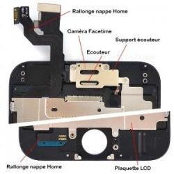 Ecran NOIR iPhone 6 RAPPORT QUALITE / PRIX pré-assemblé photo 3