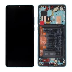 Remplacer l'écran et la batterie du P30 Pro bleu Aurora de Huawei avec cette pièce détachée d'origine et Bricophone_photo1