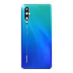 Vitre arrière Bleue Aurora à remplacer pour le Huawei P30-Bricophone_1