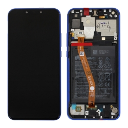 Remplacer l'écran et la batterie du P Smart+ 2018 violet par ces pièces neuves d'origine avec Bricophone_avant arrière