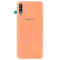 Changez la vitre arrière orange corail cassée de votre Galaxy A50 avec Bricophone_1