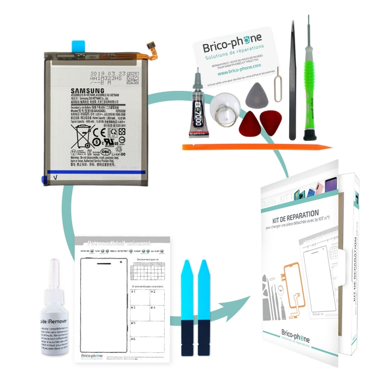Kit Bricophone exclusif pour réparer la batterie du Galaxy A50_photo1
